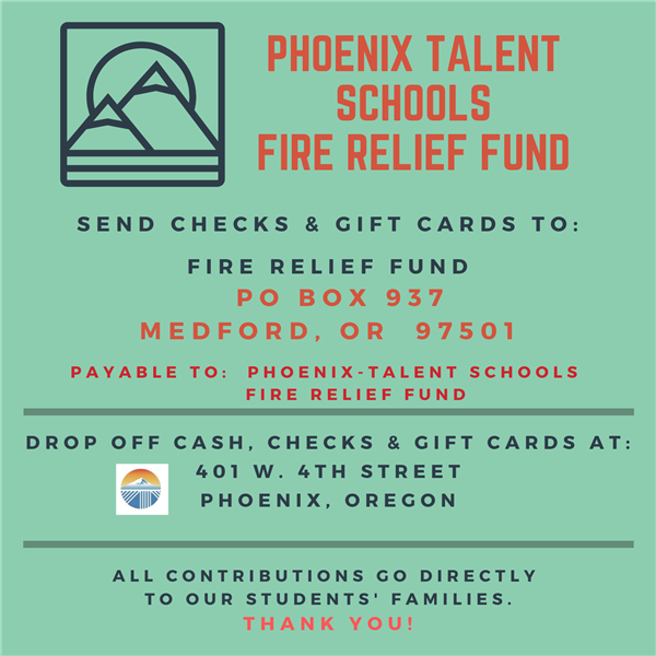 Click here to donate to families of students impacted by the fire